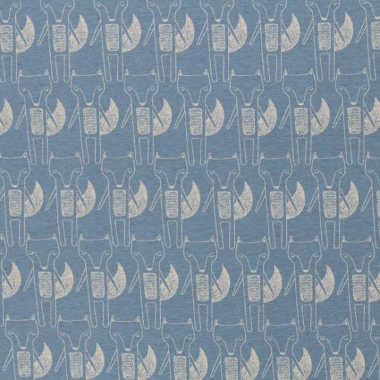 Baumwolljersey Benno Füchse hellblau von Swafing