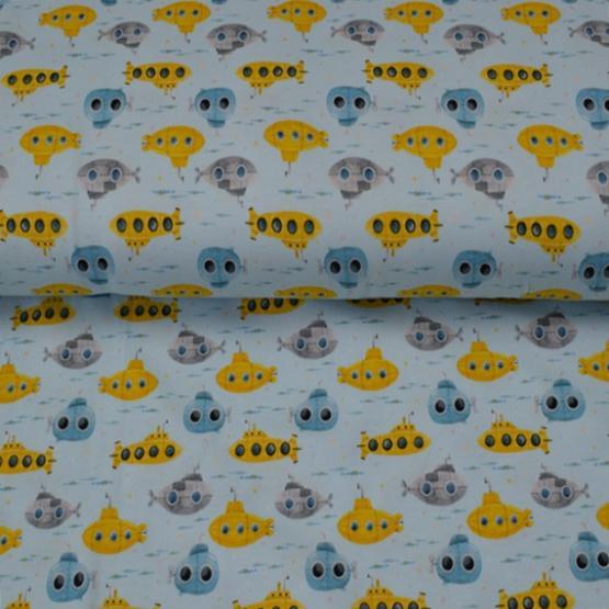 Baumwolljersey Druck U Boote Premium Collectionvon Textil Rammelkamp