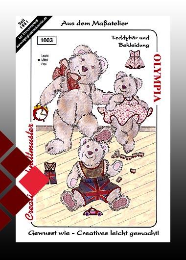 Olympia Schnittmuster Teddybär mit Bekleidung 1003