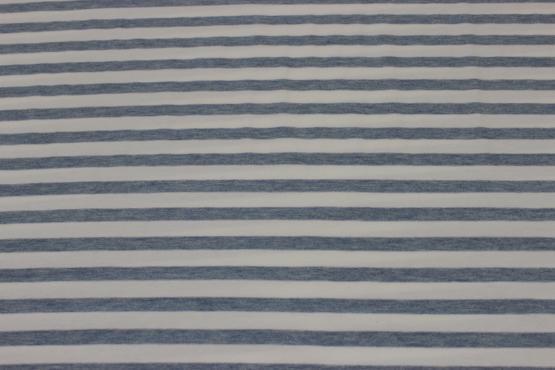 Jersey Stretch in hellblau/weiß gestreift