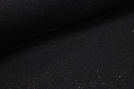 Bündchenware schwarz mit silberglitzer