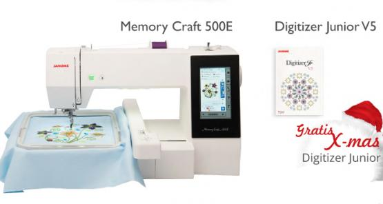 Janome Memory Craft 500E mit Software Digitizer Junior V5