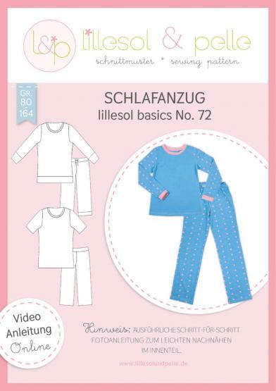 Schlafanzug lillesol&pelle Schnittmuster Größe 80-164