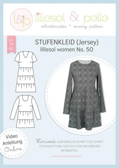 Stufenkleid Jersey women lillesol&pelle Schnittmuster Größe 34-50