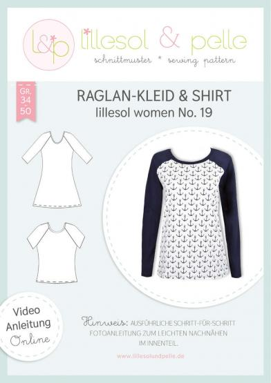 Raglan-Kleid & Shirt women lillesol&pelle Schnittmuster Größe 34-50