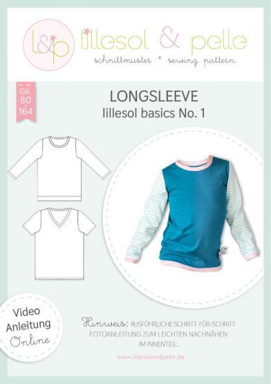 Basics Longsleeve lillesol&pelle Schnittmuster Größe 80-164