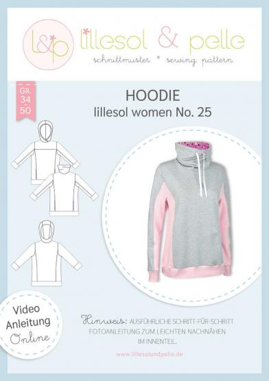 Hoodie women lillesol&pelle Schnittmuster Größe 34-50