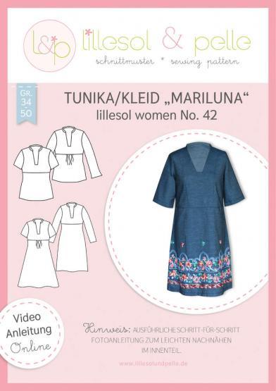 "Tunika/Kleid ""Mariluna"" lillesol&pelle Schnittmuster Größe 34-50"