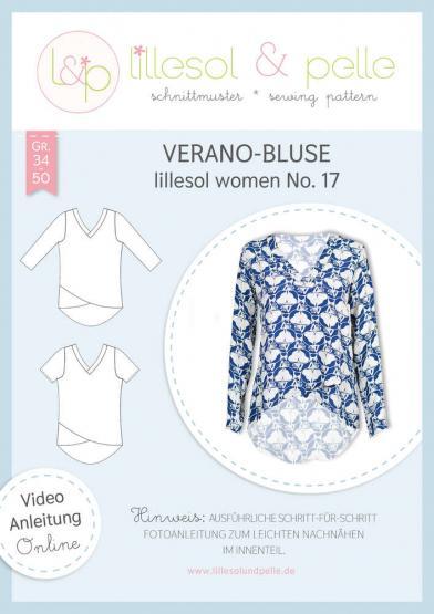Verano-Bluse women lillesol&pelle Schnittmuster Größe 34-50